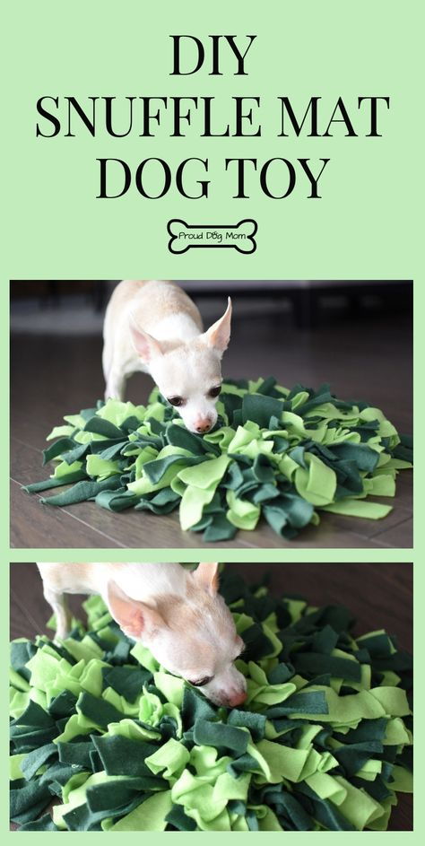 DIY Snuffle Mat: An Interactive Dog Toy That Busts Doggy Boredom When it comes to raising a happy and healthy dog, most pet parents know physical exercise is essential. Homemade Dog Toys, Diy Dog Toys, Best Dog Toys, Pet Toys, Diy Puzzle Toys For Dogs, Toy Diy, Baby Toys, Brain Games For Dogs, Dog Games