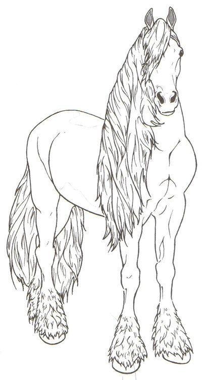 My Next Coloring Beautiful Friesian Horse Coloring Pages Horse Coloring Animal Coloring Pages