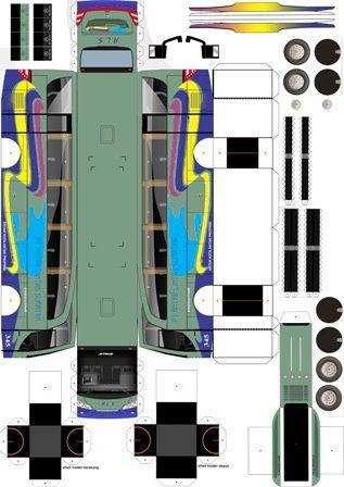Download Pola Papercraft Bus Resolusi Tinggi Gratis - Besar