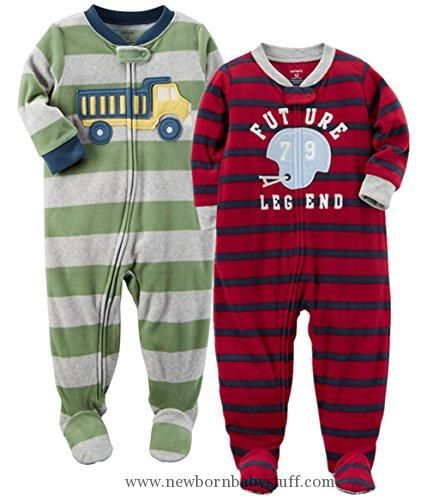 Carters Baby Boys Holiday Microfleece One Piece Footed Pajamas 12 Months Grey Penguin Click Image For More De Carters Baby Boys Boys Pajamas Baby Boy Pajamas