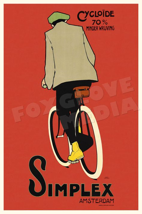 BICYCLE VINTAGE AD POSTER Simplex RARE HOT NEW