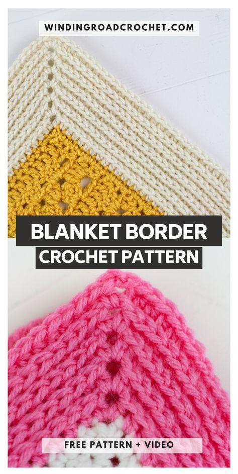 Camel Stitch Blanket Border Tutorial - Winding Road Crochet - - The Camel Stitch blanket border will work for any blanket. Free crochet pattern and video tutorial for the knit like blanket border. Crochet Afghans, Crochet Borders For Blankets, Crochet Border Patterns, Crochet Blanket Border, Crochet Boarders, Knit Or Crochet, Learn To Crochet, Crochet Motif, Crochet Edgings