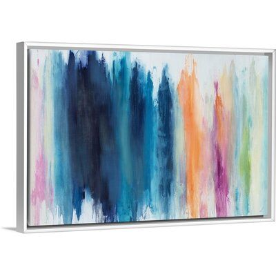 Orren Ellis Pastel Crayons Painting On Canvas Format White Floater Frame Size 13 7 H X 19 7 W X 1 75 D In 2020 Pastel Crayons Painting Tapestry