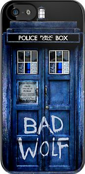 Tardis doctor who - Bad Wolf - apple iphone 5, iphone 4 4s, iPhone 3Gs, iPod Touch 4g case