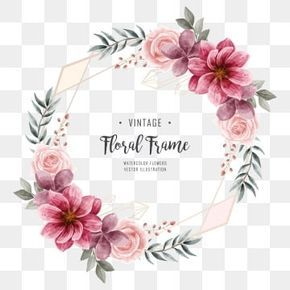 Gambar Bunga Yang Indah Geometri Rangka Untuk Undangan Pernikahan Kad Bunga Menjemput Png Dan Vektor Untuk Muat Turun Percuma Flower Frame Flower Border Watercolor Flower Background