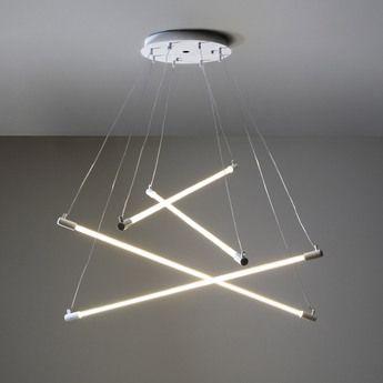Lustre Tube Systeme Shanghai Blanc O150cm Martinelli Luce Normal Lampe Design Luminaire Lampe Fluorescente