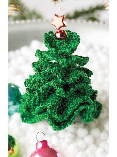 Little Christmas Tree Ornament Crochet Pattern Download Order Here Https Www E Patternscentral Crochet Christmas Trees Crochet Xmas Little Christmas Trees