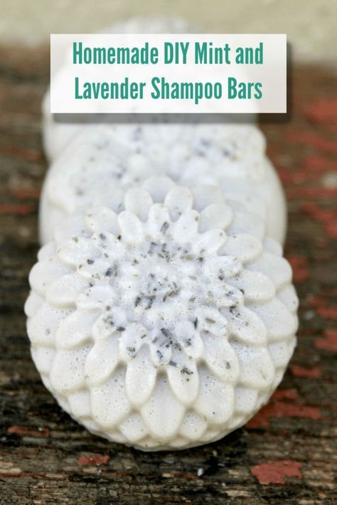 This is my homemade lavender and mint homemade shampoo bar recipe. It's an easy to make DIY shampoo bar that will help you live a more natural life and save money at the same time.  #Homemade #diy #shampoobar #mintandlavender #shampoobarrecipe #thriftyliv