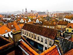 Awesome orange rooftops in Bruges, Belgium