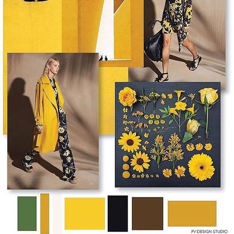 FV Trend x Color | Womens - Yellow + Black #fashion #fashioninspiration #fashioninspo #color #moodboard #prints #floral #florals
