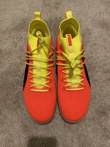new style 993cb 5b185 Details about Puma Clyde Court Disrupt Red Blast Yellow ...