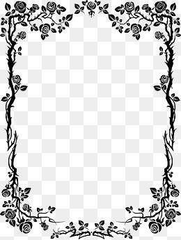 Black And White Border Clip Art Frames Borders Floral Border Design Poster Background Design