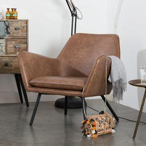 Fauteuil Design Outlet.Pedro Fauteuil Eleonora Cognac Outlet Beslist Nl