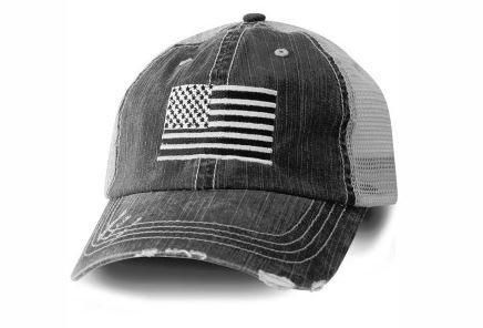 Girls And Women S American Flag Caps With A Distressed Look These Cute Trucker Hats For Women And Teens Features An Amer American Flag Hat Flag Hat Flag Decal