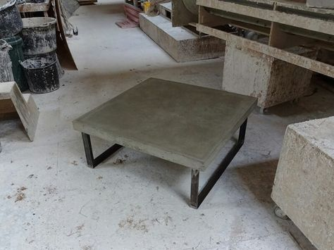 The Stanley Square Concrete Coffee Table By Concrete Tables