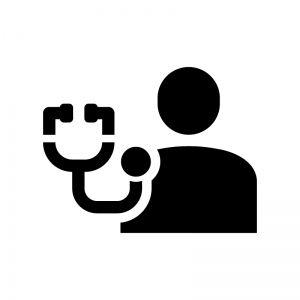 健康診断の白黒シルエットイラスト シルエット イラスト 白黒 シルエット
