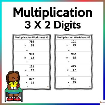 Utilize These Worksheets To Reinforce Three Digits By Two Digit Multiplication This Resource Includes 10 Pages Resource Classroom Math Resources Math Stations X digit multiplication worksheets