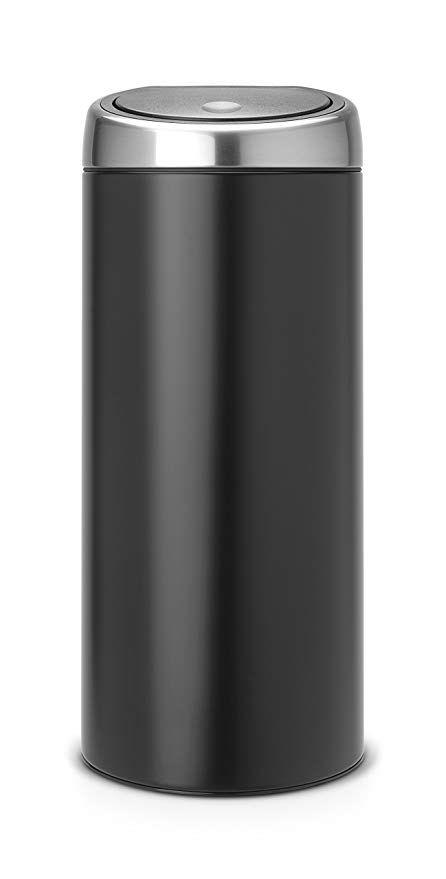 Brabantia Touch Bin 30 Liter Flat Top.Brabantia 378744 30 Liter Touch Bin Matte Black Review Trash