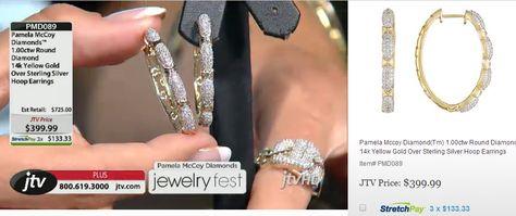 Beautifully finished and comfortable Pamela McCoy diamond hoop earrings!