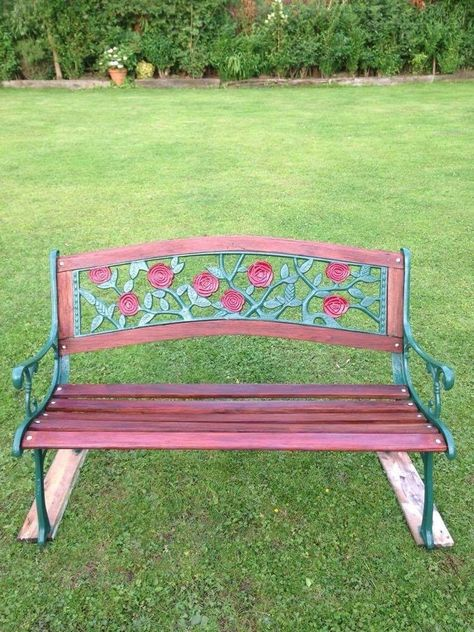 Strange L Ovely Cast Iron Garden Bench Ebay Benches Cast Onthecornerstone Fun Painted Chair Ideas Images Onthecornerstoneorg