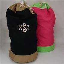 A Great Graduation Idea Give A Monogrammed Laundry Bag
