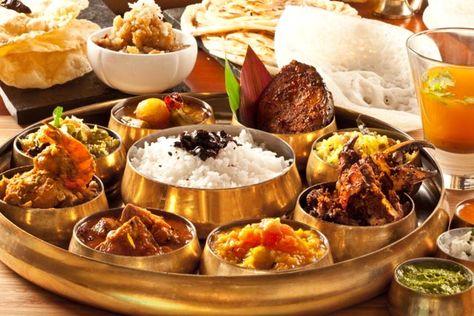 North Indian Non Veg Thali Food Drink Indian Food