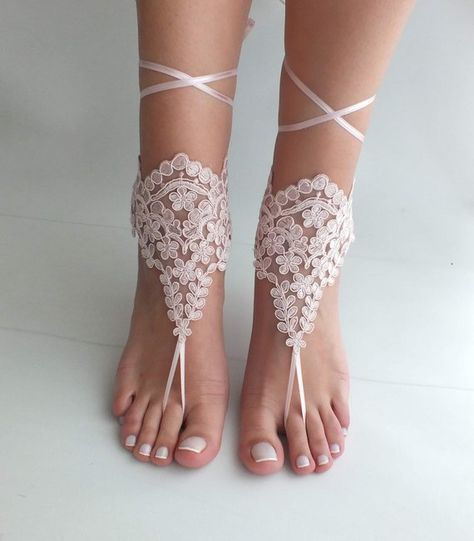 97b70568efd12 Blush Beach Wedding Barefoot Sandals