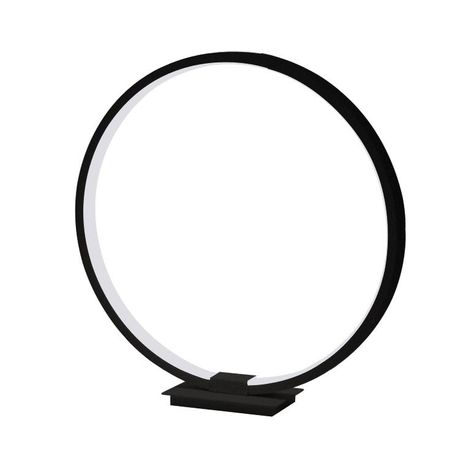 Circle Table Lamp - Black / warm white D250mm
