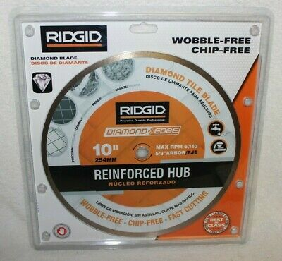 Sponsored Link Ridgid 10 Reinforced Hub Tile Diamond Blade 5 8 Arbor Crh10p New In 2020 Diamond Tile Diamond Blades 10 Things