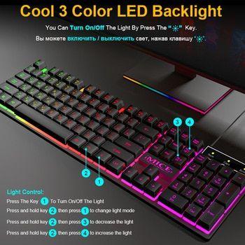 Lighting USB desktop computer game mechanical feel set wired keyboard mouse