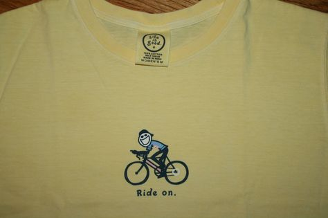 46c66e258ca Life is Good RIDE ON Jake riding bicycle bike T-Shirt