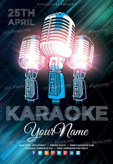 Karaoke Flyer Psd Template Psd Templates Music Flyer Psd Flyer