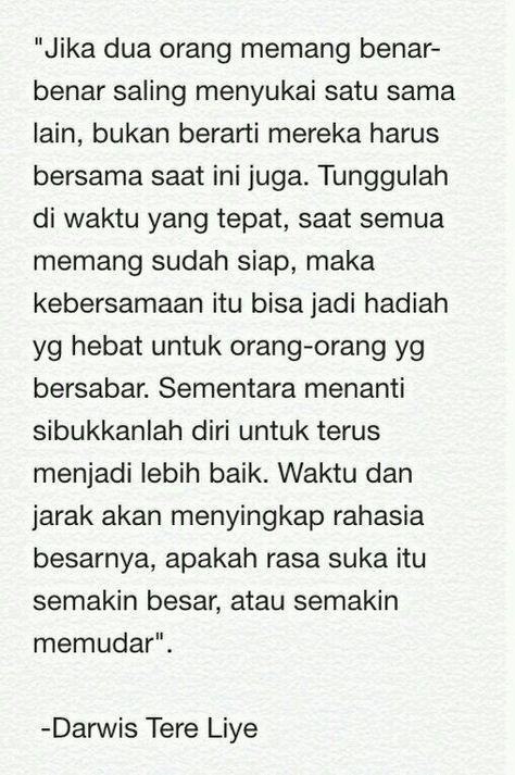 Quotes Indonesia Tere Liye Rindu 23 Best Ideas Di 2020 Dengan