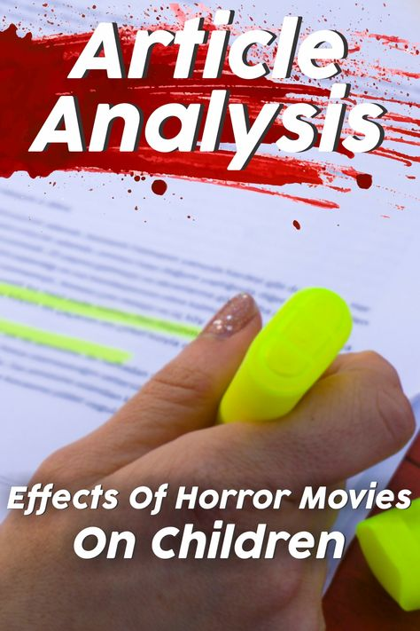 Article Analysis 6 Thinking Hats (Effects of Horror Movies on Children)