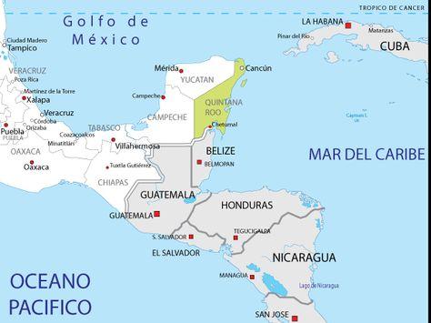 Golfo De Mexico Map.Mapa De Quintana Roo Mexico Sus Mapas Y Croquis Mexico Quintana