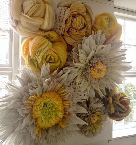 This Woman Constructs Enormous Bouquets Of Tissue Paper Flowers