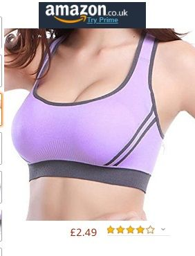Women Sport Bra Mid Impact Yoga Bra Padded Running Fitness Blockout Vest Gymwear