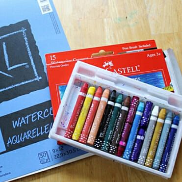 Giving Watercolor Crayons A Try Art Activities For Kids Craft