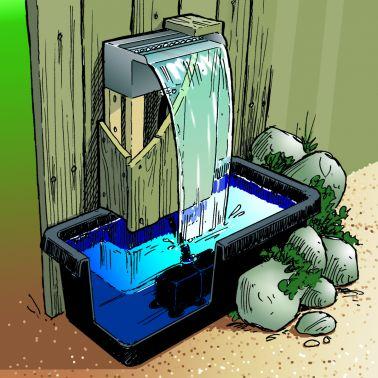 Ubbink Niagara Wasserfall 30 Cm Led Mit Pumpe 2 3 Wasserspiel