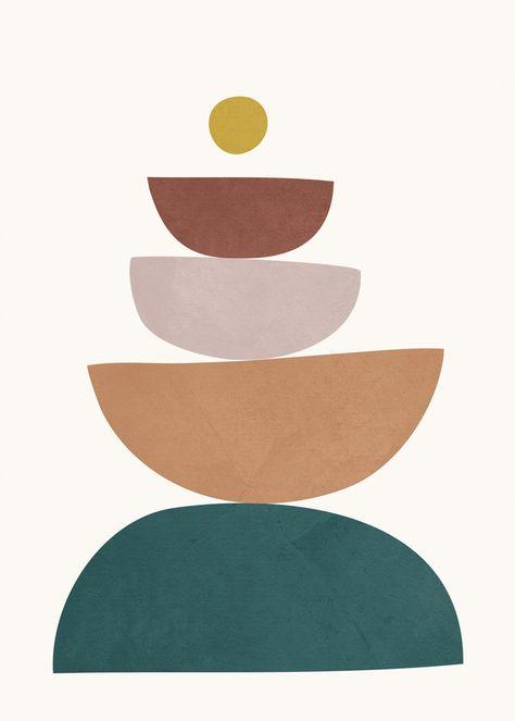 Abstract Shape 033 Art Print