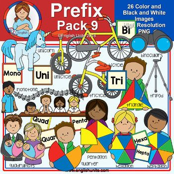 Clip Art Prefix Pack 9 Numbers 1 Clip Art Black N White Images Kids Clipart