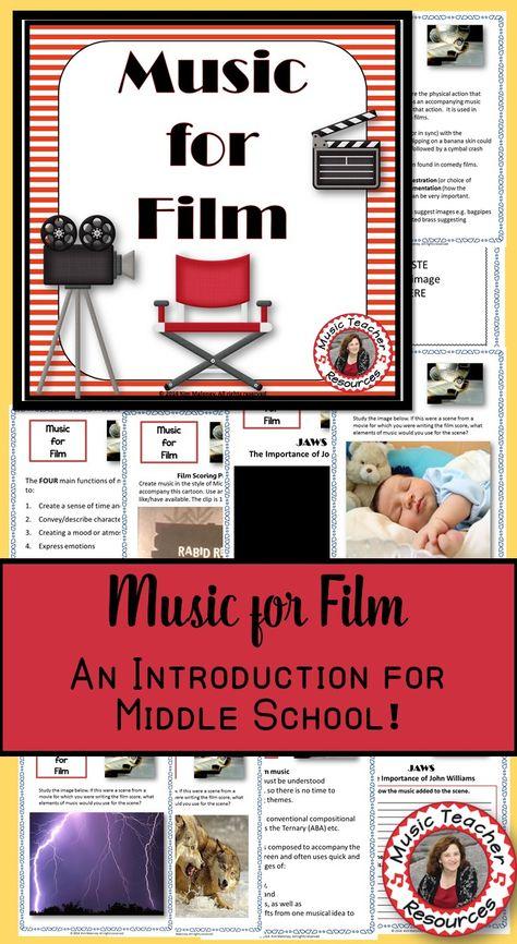 Film Music A Mini Unit On Music In The Movies Clase De Musica