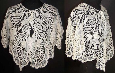Nice Antique Lace Collar Handmade Cotton Victorian Era Linens & Textiles (pre-1930) Antiques