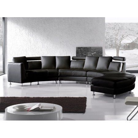Curved Sectional Sofa Black Leather Rotunde Leathersectionalsofas Modular Sectional Sofa Sectional Sofa Leather Modular Sofa