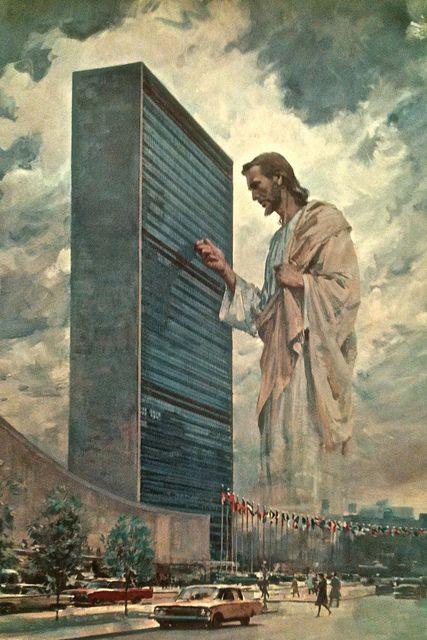 Jesus Goes To The U.N. by Namey McNamerson, via Flickr