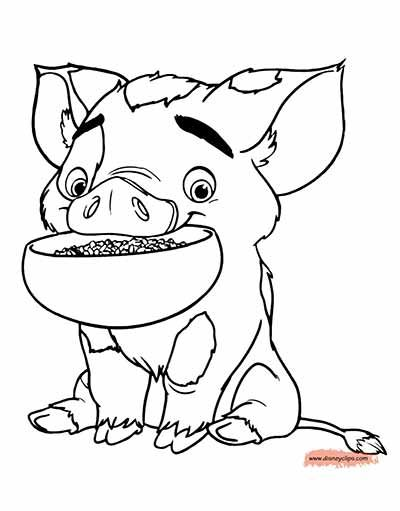 Pua Pig Coloring Pages From Moana Moana Coloring Moana Coloring Pages Cartoon Coloring Pages