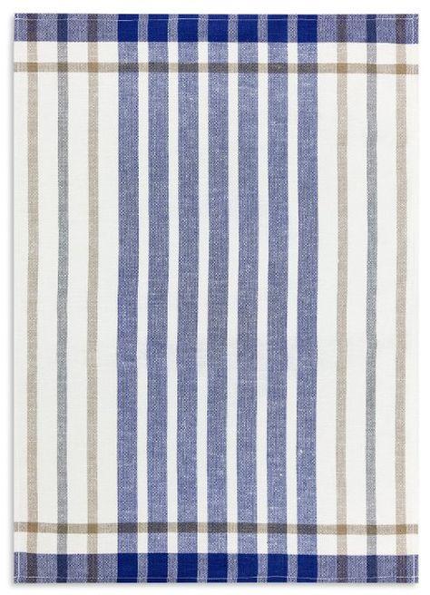 Geschirrtuch, Gläsertuch, Halbleinen, KRACHT, Streifen blau, 50x70cm