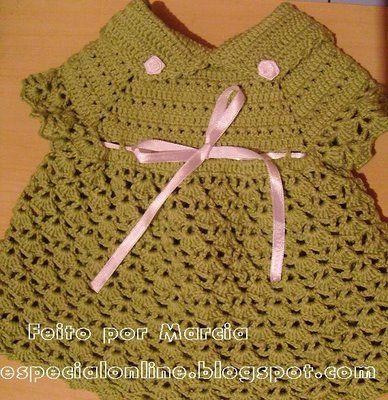 CROCHE: Mais um passo a passo de vestido para bebê