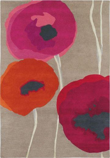 Teppich Poppies Mittelgross 200 X 140 Cm Teppich Teppich Mediterrane Teppiche Modernes Design