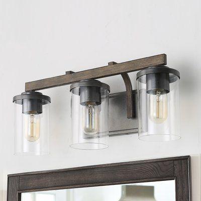 Union Rustic Kinman 3 Light Vanity Light In 2020 Vanity Lighting